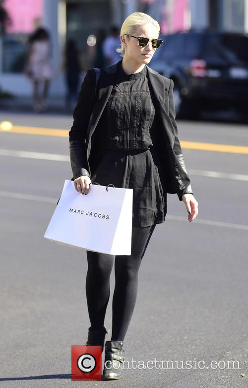 Dianna Agron shopping on Melrose Avenue