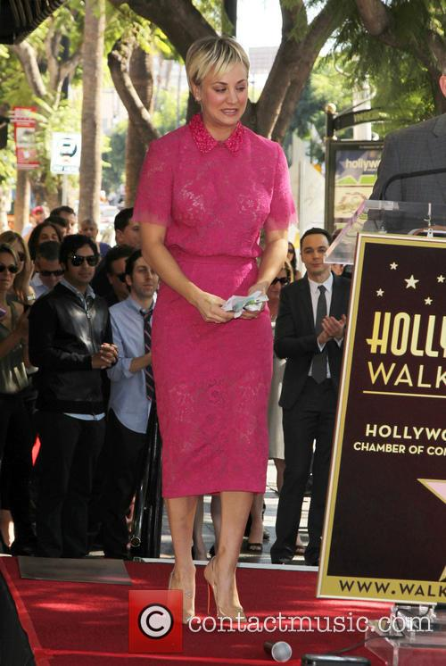Kaley Cuoco honored with a star on the...