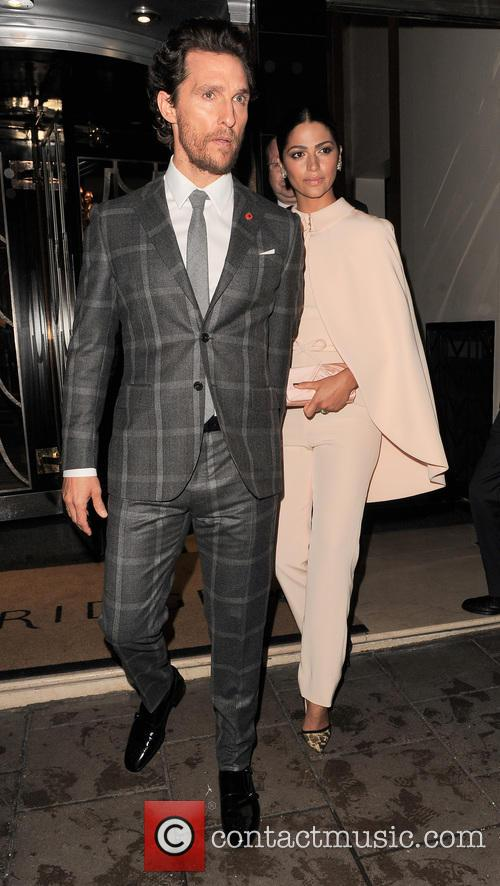 Matthew McConaughey and Camila Alves leave their hotel