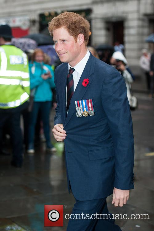 Prince Harry attends the Service of Remembrance at...