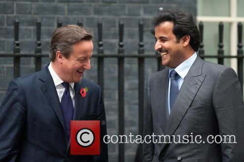 Emir of Qatar at Downing Street