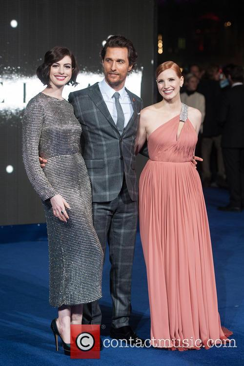 Matthew Mcconaughey, Anne Hathaway and Jessica Chastain 1