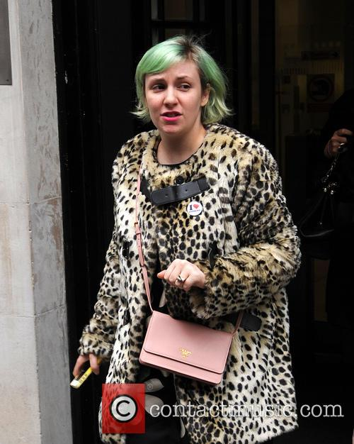 Lena Dunham at the BBC Radio 1 studios