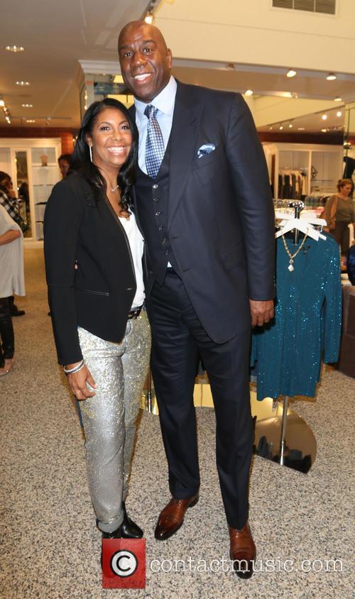 Cookie Johnson and Magic Johnson 1