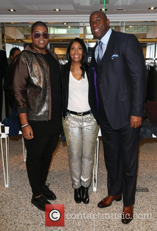 Jr Johnson, Cookie Johnson and Magic Johnson 4