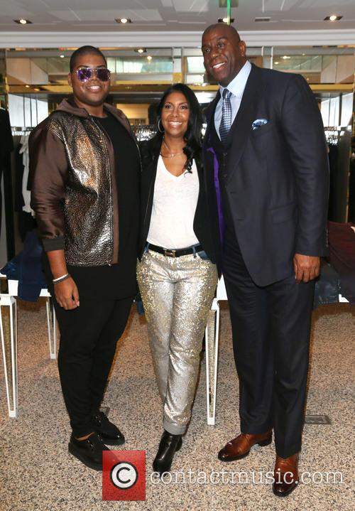 Jr Johnson, Cookie Johnson and Magic Johnson 5
