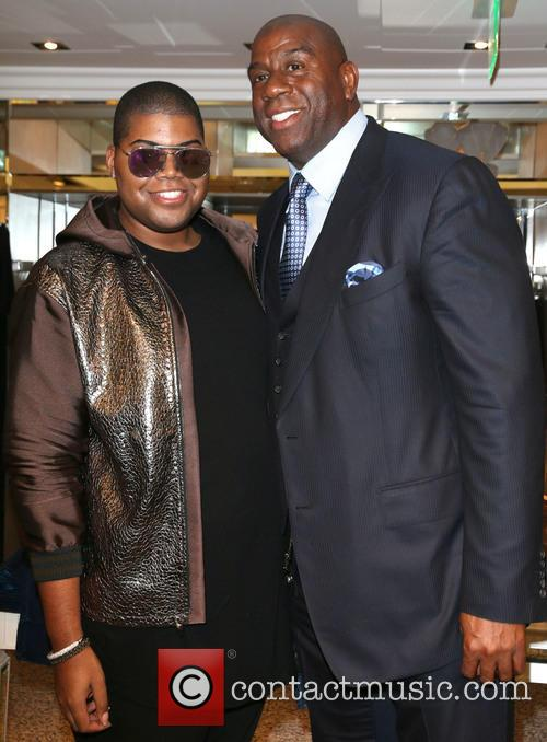 Jr Johnson and Magic Johnson 7