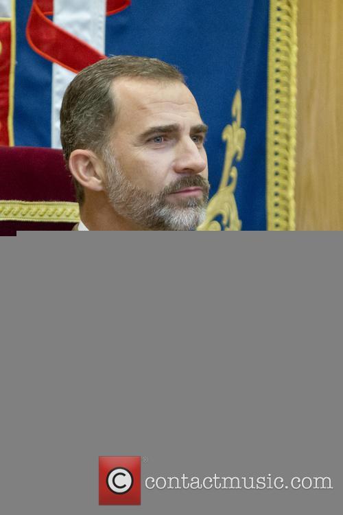 King Felipe VI of Spain  attends the...