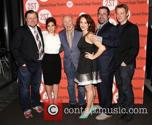 Michael Chernus, America Ferrera, Terrence Mcnally, Tracee Chimo, Peter Dubois and Austin Lysy 6