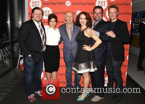 Michael Chernus, America Ferrera, Terrence Mcnally, Tracee Chimo, Peter Dubois and Austin Lysy 7