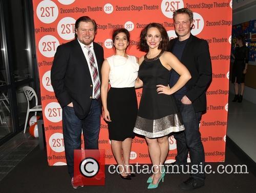 Michael Chernus, America Ferrera, Tracee Chimo and Austin Lysy 5