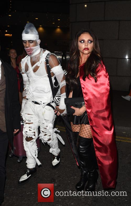 Little Mix and Tulisa Contostavlos attend a Halloween...