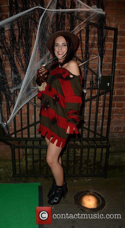 Celebrity hairstylist Andrew Trott-Barn's 'Halloween Spooktacular' at Halle...