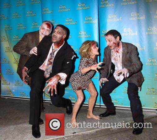Kelly Ripa, Michael Strahan, Art Moore and Michael Gelman 2