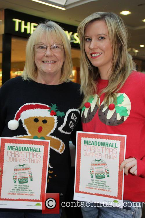 'TOWIE' star Amy Childs attends the Meadowhall Christmas...