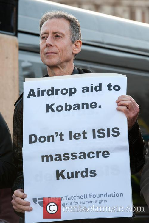 Thousands gather to protest the ISIS militants' persecution...