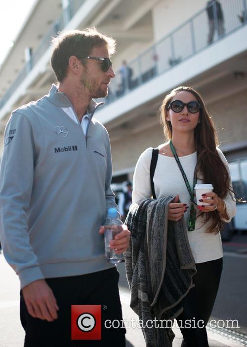 Jenson Button and Jessica Michibata 2