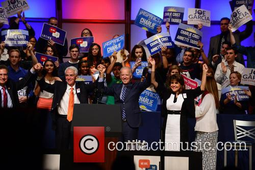 Joe Garcia, Charlie Crist, U.s. Vice President Joe Biden and Annette Taddeo 7