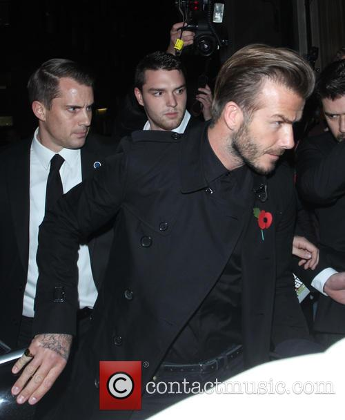 The Beckham's arriving at Burberry's festive campaign