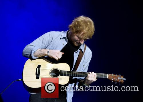 Ed Sheeran performs for a sold out crowd