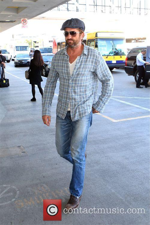 Gerard Butler at Los Angeles International Airport (LAX)