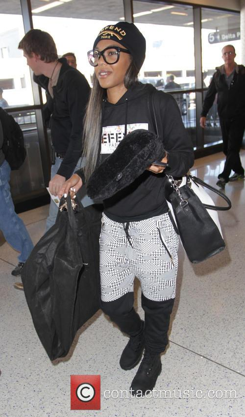 Karlie Redd departs Los Angeles International Airport