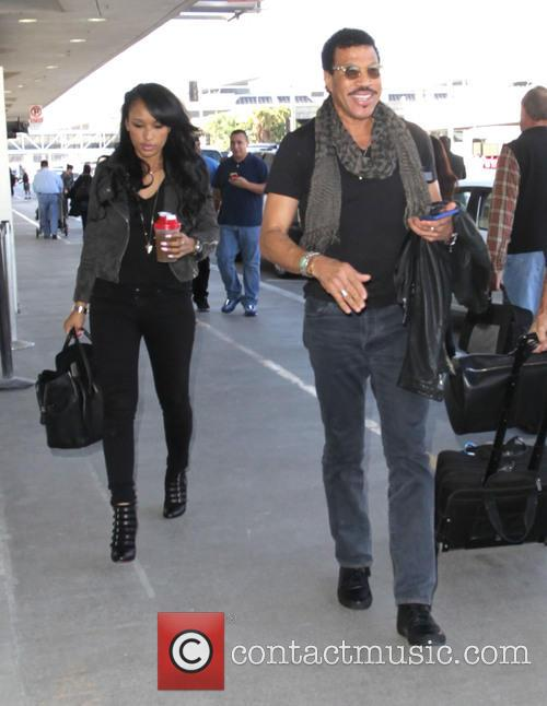 Lionel Richie with his daughter depart from Los...