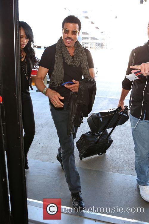 Lionel Richie at Los Angeles International Airport (LAX)