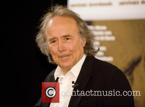 Joan Manuel Serrat attends a press conference for...