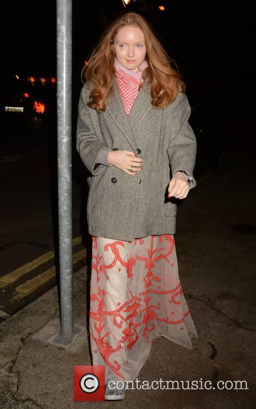 Celebrities go out for dinner at Locks Brasserie...