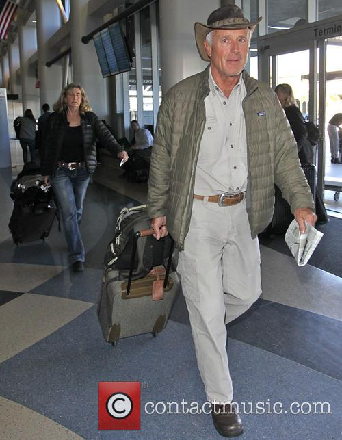 Jack Hanna with his wife depart LAX in...