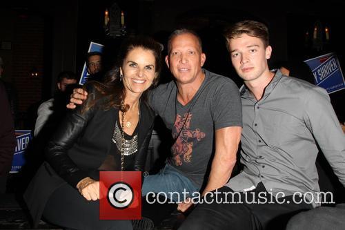 Maria Shriver, David Cooley and Patrick Schwarzenegger 4