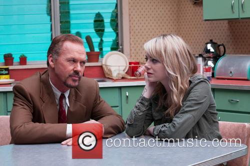 Michael Keaton and Emma Stone 1