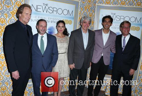 Jeff Daniels, Michael Lombardo, Olivia Munn, Sam Waterston, Dev Patel and Aaron Sorkin 4