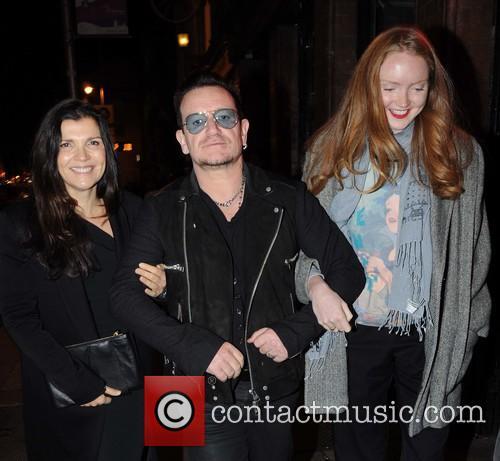 Ali Hewson, Bono and Lily Cole 5