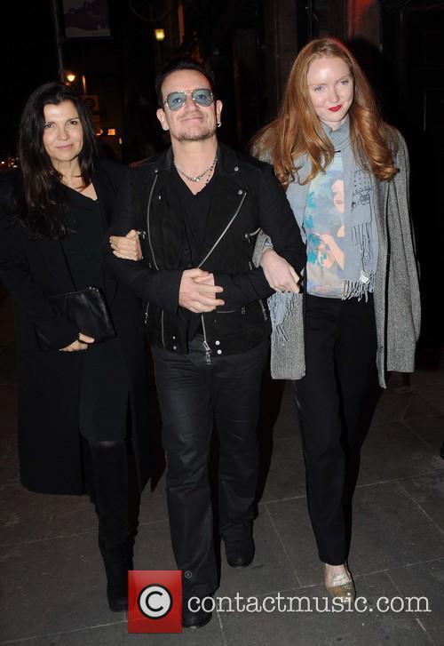 Ali Hewson, Bono and Lily Cole 7