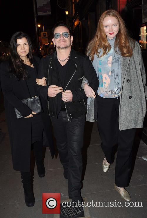 Ali Hewson, Bono and Lily Cole 9