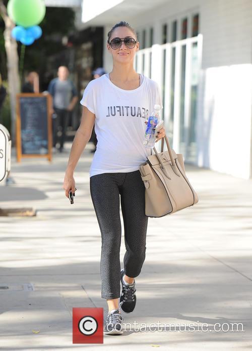 Cara Santana has a workout