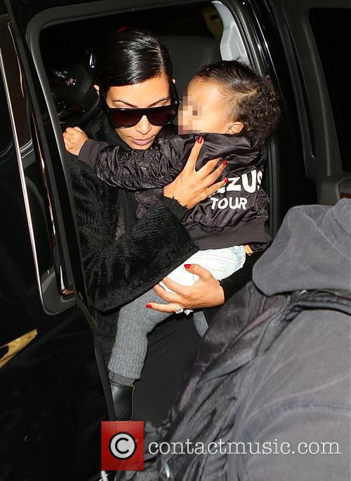 Kim Kardashian and North West 9