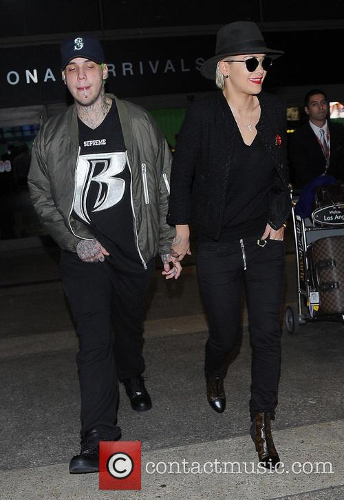 Rita Ora arrives at Los Angeles International (LAX)...