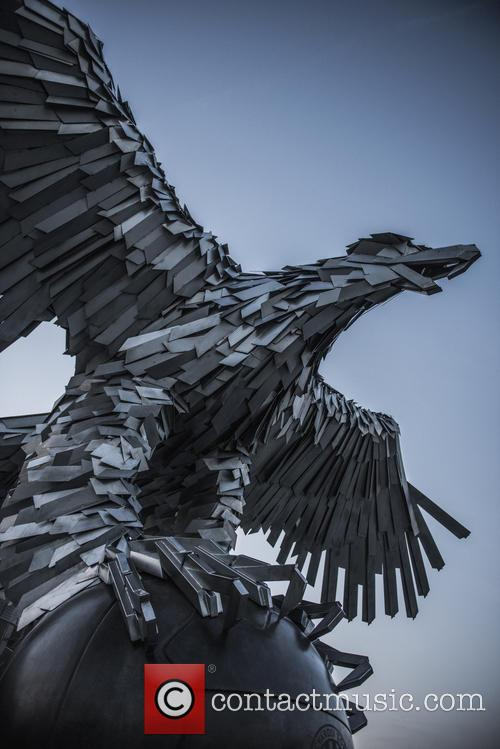 Giant Eagle Sculpture
