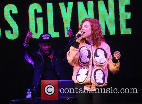 Jess Glynne performs at the Christmas lights switch-on