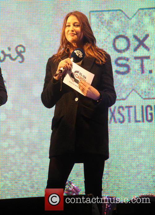 Lisa Snowdon at the Christmas lights switch-on on...