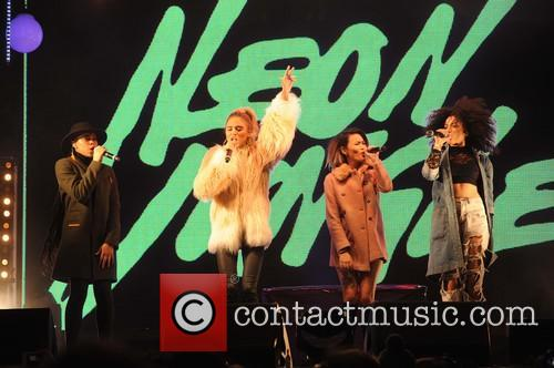 Neon Jungle perform at the Christmas light switch-on...