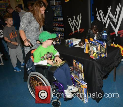 R-Truth at a signing in Smyths
