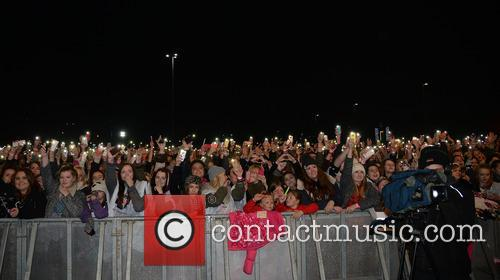 Celebrities perform at the Meadowhall Shopping Centre Christmas...