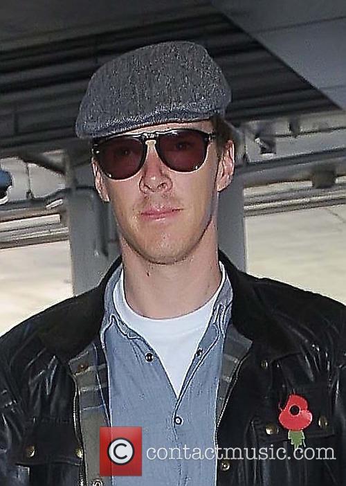 Benedict Cumberbatch arrives at Los Angeles International Airport...