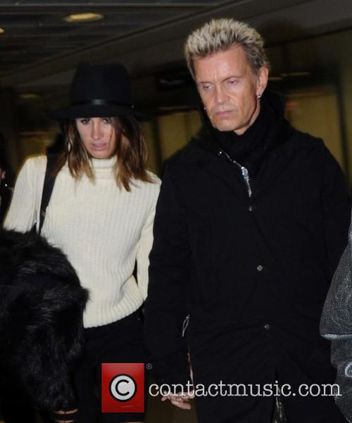 Billy Idol arriving at Dublin Airport holding hands...