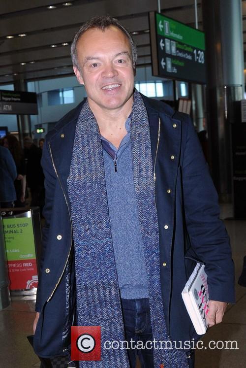 Graham Norton arriving at Dublin Airport