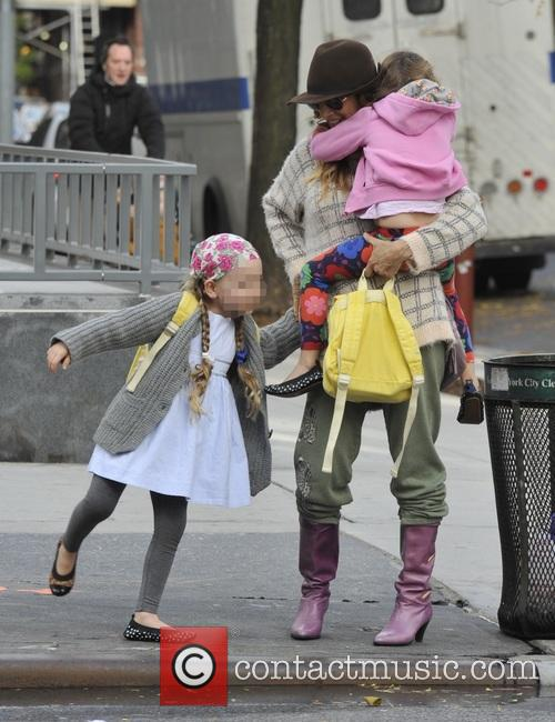 Sarah Jessica Parker takes her twin daughters Tabitha...